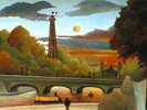 Seine und Eiffelturm in der Abendsonne