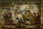 Der Triumphzug der Ecclesia. (Triumph d.Eucharistie über Unwissenheit und