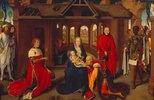 Dreikönigsaltar. Mitteltafel. Anbetung der Hl.Drei Könige