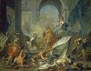 Perseus und Minerva lassen Phineus durch das Medusenhaupt versteinern