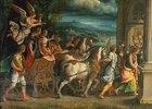 Der Triumphzug der römischen Kaiser Titus und Vespasian