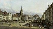 Der Altmarkt in Dresden von der Schlossgasse aus. 1751(?)