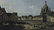 Der Neumarkt in Dresden von der Moritz-Strasse aus