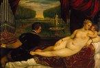 Venus mit dem Orgelspieler und einem Putto. 1548(?)