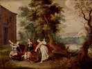 Aglauros, Padrosos und Herse mit Erechtheus