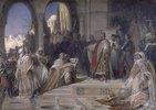 Empfang einer arabischen Gesandtschaft am Hof Kaiser Friedrichs II.in Palermo