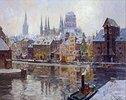 Winterliches Danzig mit Marienkirche