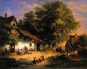 Dorfstrasse im Abendsonnenlicht