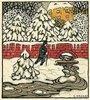 Fröhliche Weihnachten ! Weihnachtskarte der Wiener Werkstätten, No. 763