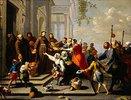Der hl.Antonius von Padua verteilt Brot an die Armen