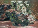 Blumenkorb mit Amaryllis und Kalla