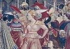 Junge Frau. Detail aus dem Fresko Papst Celestin III. gewährt die Privilegien