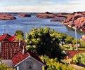 Norwegische Schärenlandschaft bei Hesnes