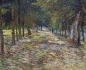 Allee im Parc de Voyer-d`Argenson in Asnieres