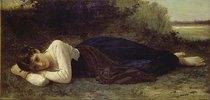 Ruhende junge Frau