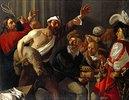 Christus treibt die Händler aus dem Tempel. 1. Viertel 17. Jahrh