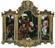 Triptychon mit der Anbetung der hl. drei Könige