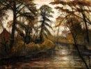 Abenddämmerung (Herbst an der Wümme)