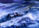 Leuchtturm im Sturm (Schiffbruch)