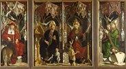 Kirchenväteraltar. Totale. Die Kirchenväter: Hieronymus, Augustinus, Gregor und Ambrosius