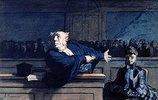 Szene im Gerichtssaal.  1862-1865