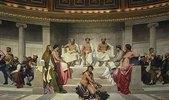 Wandmalerei in der Akademie der schönen Künste, Paris. 1841. Mittlerer Teil