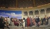 Wandmalerei in der Akademie der schönen Künste, Paris. 1841. (Rechter Teil)