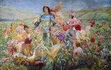 Der Ritter mit den Blumen-Nymphen