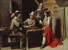 Karten spielende Soldaten