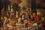 Marktszene mit Christus und der Ehebrecherin