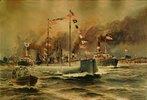 Das Handels-U-Boot Deutschlandnach der Rückkehr aus Amerika