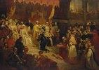 Die Abdankg. Kaiser Karls V. zu Gunsten seines Sohnes Philippe II., Brüssel