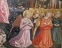 Gruppe von anbetenden Engeln