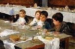 Bei der Mahlzeit im Refektori
