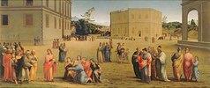 Josef präsentiert dem Pharao seinen Vater und seine Brüder