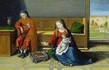 Die Heilige Familie in einem Wohnra