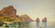 Südküste der Insel Capri mit Piccola Marina und Faraglioni