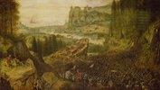 Der Selbstmord Sauls in der Schlacht auf dem Berg Gilboa. (1562)