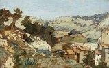 Landschaft beim Dorf Roquevaire in der Provence. 1861.  ---Ekta nicht auffindbar