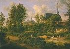 Kronberg im Taunus mit Blick auf Schönberg mit Kirche