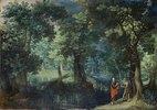 Waldlandschaft mit der Versuchung Christi