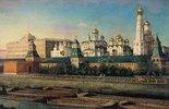 Blick über den Fluss zum Moskauer Kreml