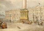 Palastplatz in St.Petersburg. 1830-er Jahre