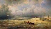 Blick auf die Newa und die Kunstakademie in St.Petersburg