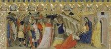 """Die Anbetung der Könige. Predella des Polyptichons """"Krönung Mariae"""""""
