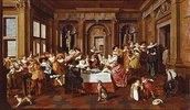 Elegante Gesellschaft. 1628. Die Architektur von Dirck van Delen