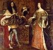 Kurfürst Ferdinand Maria und seine Gemahlin Henriette Adelaide. Mitte 17. Jh