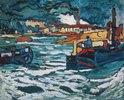 Flusskähne auf der Seine