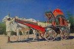 Prachtvolle Kutsche eines reichen Mannes in Delhi