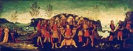 König Syphax ergibt sich Scipio Africanus
